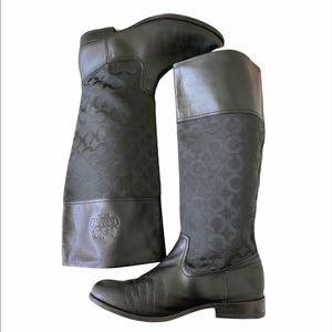 Coach Chrissi Leather Boots
